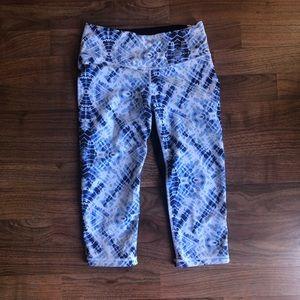 Victoria's Secret Sport VSX Blue Tie Dye Crop Pant